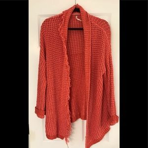 Coral colored Cardigan